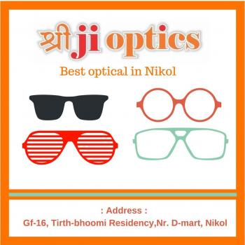 Shreeji Optics : Specs frame | Sunglasses | Contact lenses in Ahmedabad