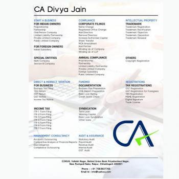 CA Divya jain in Raipur