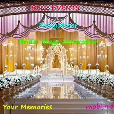 Bell Event Bridal Stage Decoration