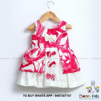 Butterfly frock pink at Boon Kids in Kothamangalam