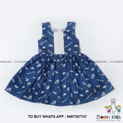 Printed cotton frock at Boon Kids in Kothamangalam