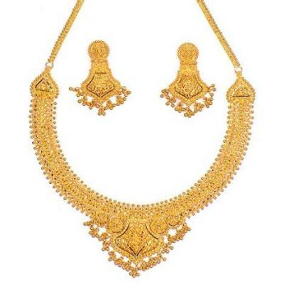 Necklace at J J Gold in Kothamangalam