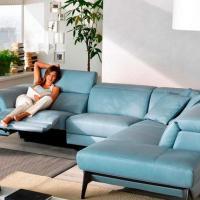 Italian Leather Sectional Sofa at Primo Furniture in Mumbai