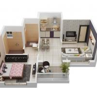 1 BHK flat at Tanishq  Realities in Alandi