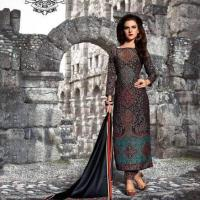 Beautiful Pure pashmina printed winter suit with pashmina shawl at Universal Apparels in Chandigarh