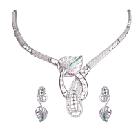 Silver Necklace Set at Tiara Fashion Jewellery in Mumbai