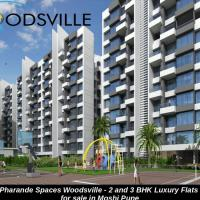 Woodsville Pune - 2 and 3 BHK Luxury Flats In Moshi Pune at Pharande Spaces in Pune