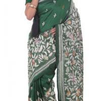 Amazon Trail, Kantha at Parinita Online Saree Store in Kolkata