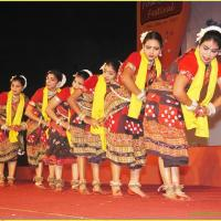 Folk Dance Costumes at Mayilpeeli Dance Collection in Kalady