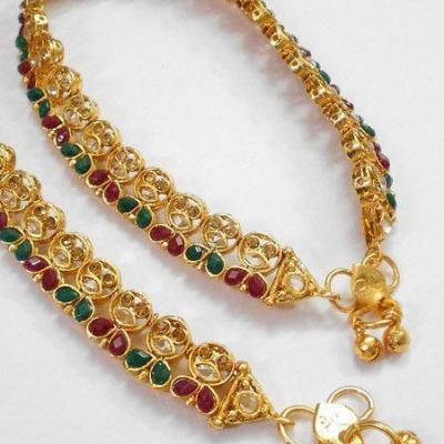 Anklet at Variety Micro Gold Covering in Kothamangalam