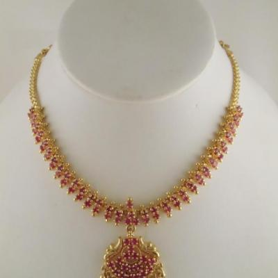 Necklace Set at Variety Micro Gold Covering in Kothamangalam