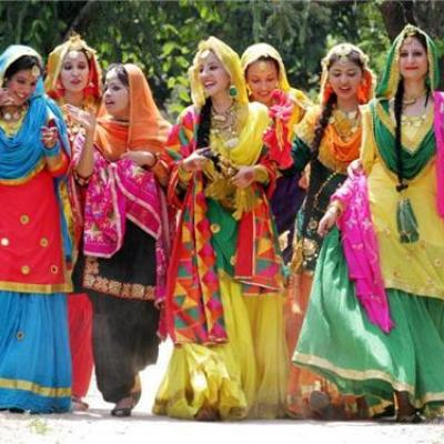 Punjabi Dance costumes at Fine choice & Dance Collection in Chalakudy