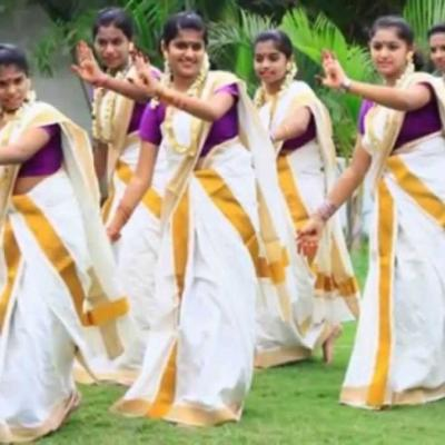 Thiruvathira Costumes at Fine choice & Dance Collection in Chalakudy