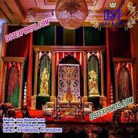 Indian Wedding Open Golden Mandapam at DST Exports in Patiala