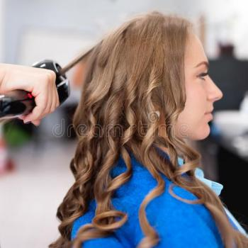 Hair curling at Geetha Girl Herbal Beauty Touch in Kalavoor