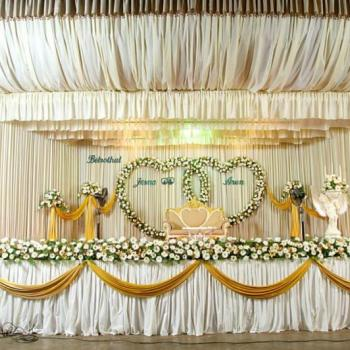 Stage Decoration at Smitha Catering and Events in Thodupuzha